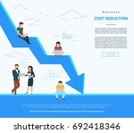 business cost reduction concept ... | Shutterstock .eps vector #692418346