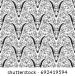 ornamental hand drawn pattern... | Shutterstock .eps vector #692419594