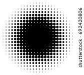 halftone element  circular...   Shutterstock .eps vector #692420806