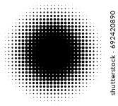 halftone element  circular...   Shutterstock .eps vector #692420890