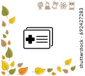 web icon. medical forms ...   Shutterstock .eps vector #692427283