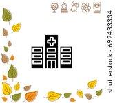 web line icon. hospital | Shutterstock .eps vector #692433334