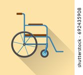 flat style wheelchair icon with ...   Shutterstock .eps vector #692435908