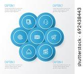 music outline icons set.... | Shutterstock .eps vector #692438443