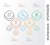 people outline icons set.... | Shutterstock .eps vector #692442658