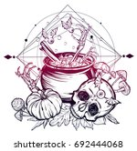 vector illustration. halloween. ... | Shutterstock .eps vector #692444068