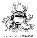vector illustration. halloween. ... | Shutterstock .eps vector #692444089