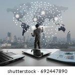 ai conceptual in business...   Shutterstock . vector #692447890