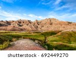 This image captured the spectacular formations of the Badlands National Park in South Dakota.