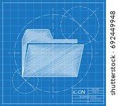 vector blueprint folder icon ...
