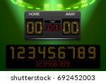 scoreboard with time result... | Shutterstock .eps vector #692452003
