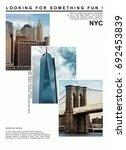 photo print new york city... | Shutterstock . vector #692453839
