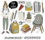 back to school objects  clip... | Shutterstock .eps vector #692454433