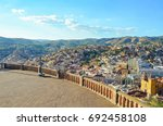 panoramic view of the city of... | Shutterstock . vector #692458108