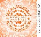 between love and hate orange... | Shutterstock .eps vector #692461660
