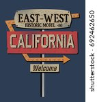 california sign.retro.fashion... | Shutterstock .eps vector #692462650