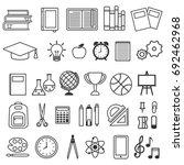 vector set of school icons of... | Shutterstock .eps vector #692462968