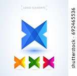 abstract letter x logo template.... | Shutterstock .eps vector #692465536