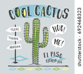 cool cactus illustration  tee... | Shutterstock .eps vector #692468323