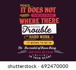 peace. it does not mean to be... | Shutterstock .eps vector #692470000