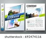 portfolio design template... | Shutterstock .eps vector #692474116