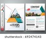 minimal brochure report... | Shutterstock .eps vector #692474143