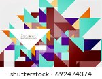 triangle pattern design... | Shutterstock .eps vector #692474374