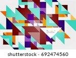 triangle pattern design... | Shutterstock .eps vector #692474560