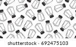 pepper salt sugar shaker bottle ... | Shutterstock .eps vector #692475103