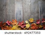autumn leaf frame for words and ... | Shutterstock . vector #692477353