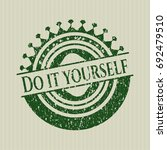 green do it yourself distressed ... | Shutterstock .eps vector #692479510