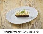 dessert on a beautiful wooden...   Shutterstock . vector #692483170