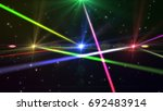 laser show from multi colored... | Shutterstock . vector #692483914