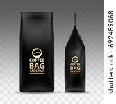 coffee bag mockup packaging... | Shutterstock .eps vector #692489068