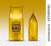 coffee bag mockup packaging...   Shutterstock .eps vector #692489080