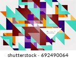 triangle pattern design... | Shutterstock . vector #692490064