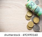 dollar australia banknotes and... | Shutterstock . vector #692490160