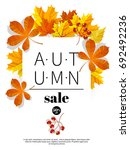 autumn sale. fall season sale... | Shutterstock .eps vector #692492236
