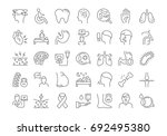 set vector line icons  sign and ... | Shutterstock .eps vector #692495380
