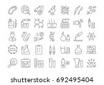 set vector line icons  sign and ... | Shutterstock .eps vector #692495404