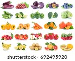 fruits and vegetables... | Shutterstock . vector #692495920