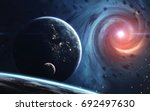 endless universe  science... | Shutterstock . vector #692497630