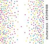 multicolored dot confetti.... | Shutterstock .eps vector #692498488