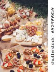 beautifully decorated catering... | Shutterstock . vector #692499859