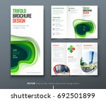 business tri fold brochure... | Shutterstock .eps vector #692501899