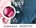 macaroons  | Shutterstock . vector #692502724