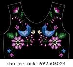 vector design for collar t... | Shutterstock .eps vector #692506024