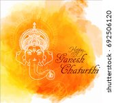 illustration of lord ganesha in ... | Shutterstock .eps vector #692506120