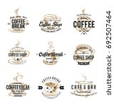 vintage coffee shop logo design | Shutterstock .eps vector #692507464