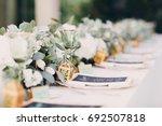 wedding decor | Shutterstock . vector #692507818